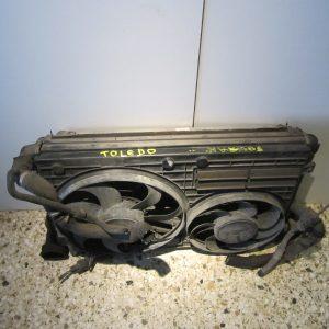 Seat Toledo 2005-2009 σετ ψυγεια(ψυγειο νερου-ψυγειοA/C-βεντιλατερ-ψυγειο intercooler)
