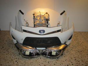 Μετωπη μουρη κομπλε Toyota Yaris 2014-2017 ασπρη (καπο-2 φτερα-2 φαναρια-προφυλαχτηρασ-ψυγεια κομπλε-τραβερσεσ)