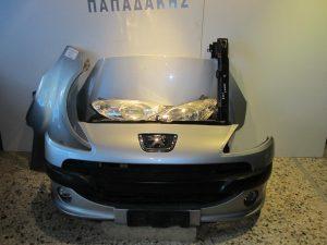 Peugeot 1007 2004-2009 μούρη κομπλέ ασημί