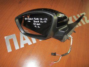Peugeot 208 2012-2017/Peugeot 2008 2014-2017 καθρέπτης αρισερός ηλεκτρικά ανακλινόμενος μαύρος