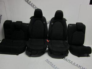 Alfa Romeo Mito 2008-2016 σετ καθίσματα μαύρα με ταπετσαρίες (εμπρός-πίσω)