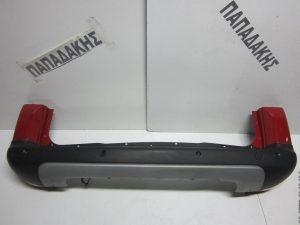 Citroen Berlingo 2015-2017 πίσω προφυλακτήρας κόκκινος με αισθητήρες