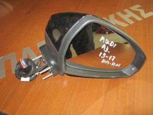 Audi A3 2013-2017 δεξιός ηλεκτρικά ανακλινόμενος καθρέπτης μαύρος