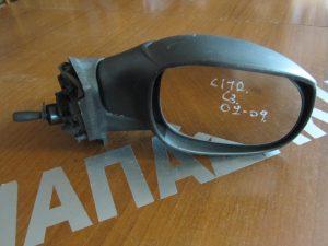 Citroen C3 2002-2009 δεξιός καθρεπτης μηχανικός άβαφος