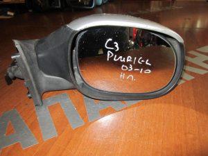 Citroen C3 Pluriel 2003-2010 δεξιός καθρεπτης ηλετρικός ασημί