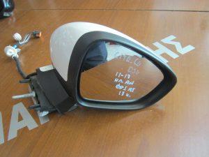 Citroen DS4 2011-2017 δεξιός ηλεκτρικά ανακλινόμενος καθρέπτης άσπρος φως ασφαλείας