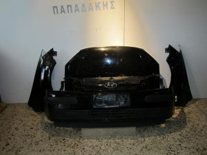 Hyundai Getz 2002-2005 μούρη μαύρη: καπό- 2φτερά- προφυλακτήρας- μετώπη κομπλέ- ψυγεία κομπλέ- φανάρι δεξιό