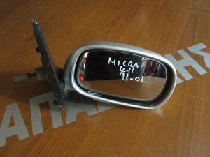 Nissan Micra K11 1993-2003 δεξιός μηχανικός καθρέπτης ασημί