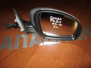 Skoda Fabia 2007-2014 δεξιός ηλεκτρικός καθρέπτης ασημί