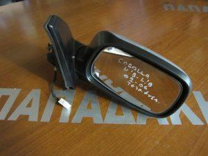 Toyota Corolla 2002-2006 δεξιός ηλεκτρικός καθρέπτης ασημί 3/5θυρο φις τετράγωνο