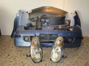 Nissan Micra K12 2003-2007 μούρη : καπό- 2 φτερά- 2φανάρια- προφυλακτήρας με προβολείς- τραβέρσα άνω- τραβέρσα προφυλακτήρα- τραβέρσα ψυγείων