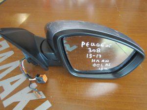Peugeot 308 2013-2017 καθρέπτης δεξιός ηλεκτρικά ανακλινόμενος γκρι αισθητήρες φως ασφαλείας