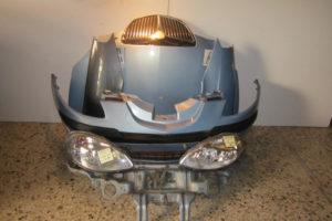 Lancia Y 2003-2006 μετώπη-μούρη εμπρός γαλάζια: καπό- 2 φτερά- 2 φανάρια- προφυλακτήρας- μετώπη