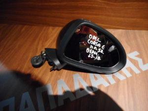 Opel Corsa E 2015-2018 δεξιός ηλεκτρικός καθρέπτης θερμαινόμενος μαύρος 5 καλώδια