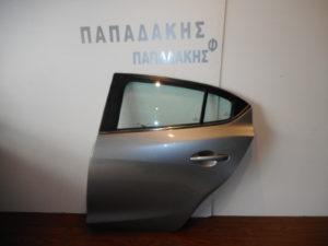 Mazda 3 5θυρο 2013-2016 πίσω αριστερή πόρτα ασημί σκούρο