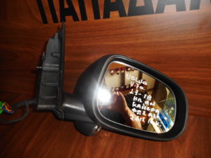 Volvo V70 2013-2018 ηλεκτρικά ανακλινόμενος καθρέπτης δεξιός μαύρος 16 καλώδια 2φις φως ασφαλείας κάμερα