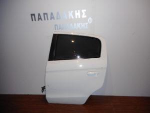 Mitsubishi Space Star 2013-2018 πίσω αριστερή πόρτα άσπρη