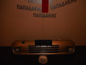 Toyota Yaris Verso I 1999-2004 εμπρός προφυλακτήρας ασημί με προβολείς