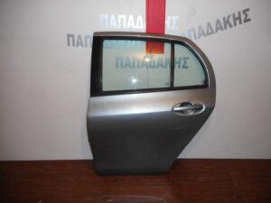 Toyota Yaris 2006-2011 πόρτα πίσω αριστερή ασημί σκούρο
